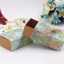 50x Travel Theme Mini Suitcase Candy Box Kraft Paper Container Wedding FavorDV