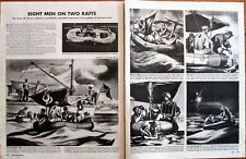 Army Air Corps Tests Survival at Sea in Life Rafts to Rescue Airmen WWII Article