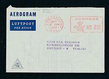 04337) Dänemark  Aerogramme meter 60 Öre 1959, Zudruck > Stuttgart