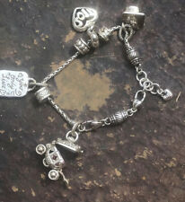 Brighton Starter Charm Holder Bracelet with 7 Charms Beads Spacers Graduation