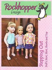 """Dolls Clothes PATTERN  - Suitable for 17"""" to 20"""" Dolls - by Rockhopper Design SO"""