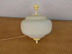Lampe Leuchte Antik Design Kreisel Gemarkt Glas Liegelampe Stehlampe Licht
