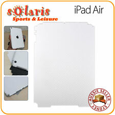 iPad Air White Carbon Fibre Vinyl  Back Skin Sticker Protection Decoration Cover