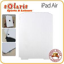 iPad Air White Carbon Fibre Vinyl  Back Skin Sticker Protection Decoration Cover