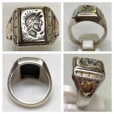Antico anello argento sterling ACCESSORI IN SOLDATI TESTA