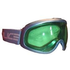 Salice Senior ll Ski Snowboard Goggles Anti-fog Lens - Steel Blue / Green