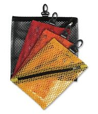 Mesh Storage Bags, Assorted Colors and Sizes, 4 Bags, Attach To Notebooks, Bags