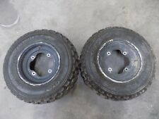 2002 YAMAHA RAPTOR 660 FRONT TIRES AND RIMS 21/7/10 YFM660 02 03 04 05 #7
