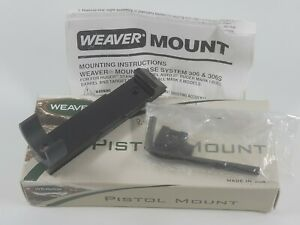 Weaver Pistol Mount #306 MT w/o Rings 48641 for Ruger Security 6 USA