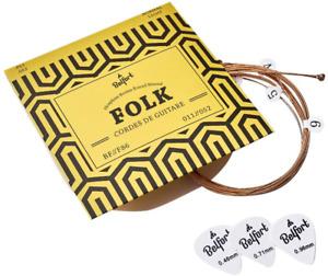 Cordes Guitare Folk et Acoustique Phosphore Nylon Metal Cadeau Haute Qualite
