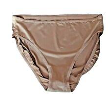 2 Jones New york Nude Modern Briefs SIZE 12/14 NUDE SATIN HI-CUT Panties briefs