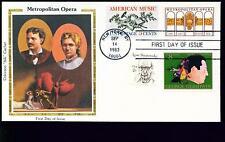 1983 FDC - Scott# 2054 COMBO - Metropolitan Opera - Colorano Silk Cachet   UA