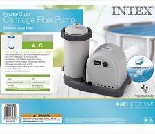 Intex 1500 GPH Krystal Clear Cartridge Filter Pump 110-120V with GFCI