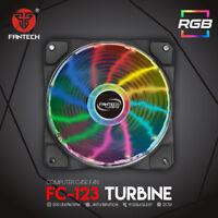 FANTECH FC-123 PC Desktop Tower Computer Fan Case Cooling Fan Unit Colorful LED