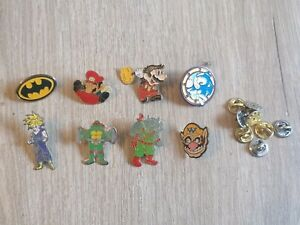 Lot  PINS jeux vidéo sonic Mario sega nintendo batman dragon ball z tortue ninja