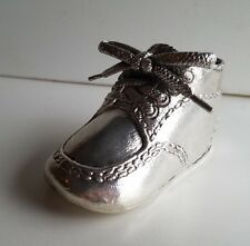 WHOLESALE...Engravable Pewter Baby Shoe (Lot of 5)