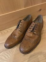 Joseph Abboud Dress Shoes Leather Size 13 Brown Oxford Lace Wingtip