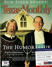 WILLIE NELSON signed Autographed Texas Monthly magazine PSA/DNA # U55999