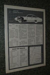 ★★1970 FERRARI 365 GT 2+2 ORIGINAL FIRST LOOK ROAD TEST INFO SPEC SHEET 70