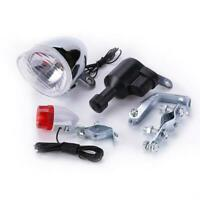 Bike Bicycle Motorized Friction Generator Dynamo Head Tail Light with Acessories