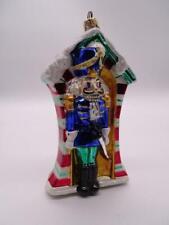 "Vintage Christopher Radko Glass Figural Christmas Ornament Nutcracker Guard 7""T"