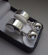 Taxco Polished Bold Chunky Geometric Shape Drop Dangle Earrings - 19 Grams