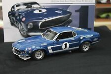 ACME 1801819 Team Shelby's Ford Mustang Boss 302 Trans Am 1969 Blue 1 1:18 1/708