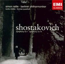 Shostakovich: Symphonies 1 & 14 - Berliner Philharmoniker, Rattle (EMI 2 CD)