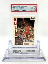 1992-93 Topps Archives Basketball Michael Jordan #52 Chicago Bulls PSA 9 Mint