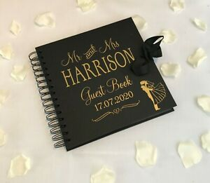 Personalised Wedding Guest Book, Wedding Reception Guest Book