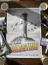 TRAVEL PALESTINE ILLUSTRATION ADVERT VINTAGE NEW FRAMED ART PRINT B12X11313