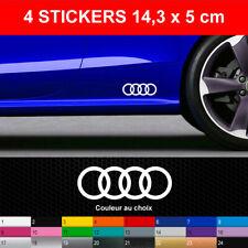 Stickers ANNEAUX 4 Autocollants Audi Adhésifs Bas de Caisse Voiture 14,3X5 cm