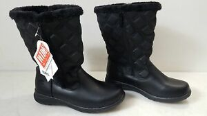 Totes Womens Quilted Fabric Waterproof Elsa-T Boots Size 9 Wide