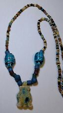 Queen Cleopatra Egyptian Necklace Mummy Beads Hand Beaded Terracotta