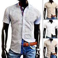 Unbranded Men's Regular Collar Slim Cotton Casual Shirts & Tops