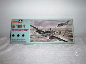 Vintage 1968 Monogram WWII Bf 110E-1 Messerschmitt Model Airplane Kit # PA182100