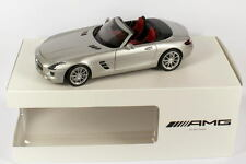 Minichamps Mercedes Benz SLS AMG Roadster Silver 1:18 Dealer Edition Rare!