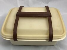 Vintage Tupperware Lunch Set Almond 1254 Pack N Carry Retro Storage Handle 1322