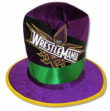 WWE WRESTLEMANIA XXX 30 - PRINTED LOGO PURPLE TOP HAT NEW OFFICIAL 2014