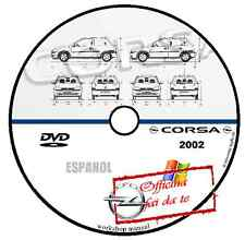 MANUALE OFFICINA OPEL CORSA C 2002 SPAGNOLO ESPANOL WORKSHOP MANUAL SERVICE CD D