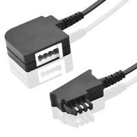 Universal Verlängerung Verlängerungskabel für Telefon TAE-F Stecker auf Kupplung