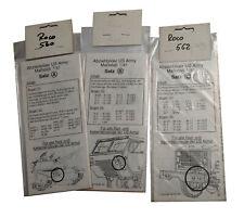 Roco Minitanks Abziehbilder Decals Satz A B C Bumper Codes US Army 1:87 560 561
