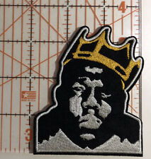 Notorious B.I.G. Patch. 3.25�x3� Crown. Biggie Smalls. Hip Hop Rap. Free Us ship