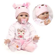 "22"" Handmade Reborn Baby Girl Doll Silicone Vinyl Newborn Dolls Realistic Alive"