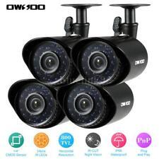 OWSOO 4x 800TVL CCTV Outdoor Camera Set IR Bullet Video For Home Security S3E5