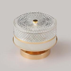 12W LED Ceiling Light Fixture Acrylic Crystal Lamp Surface Mounted Hallway Aisle