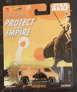 "SUPER VAN STAR WARS 1/5 PREMIUM HOT WHEELS ""PROTECT THE EMPIRE"" BRAND NEW"