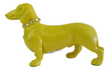 Dachshund -Standing Dog Figurine - Resin -Yellow - 13cm High (Some marks) LAST