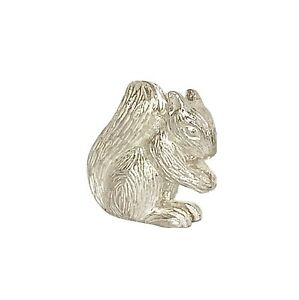 English Made Solid Sterling Silver Squirrel Model Full UK Hallmarks