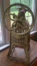Rare Antique Cast Iron Ice Shaver Snow Cone Machine - Like Coffee Grinder Mill